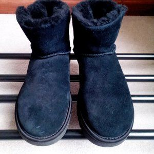 UGG Women Classic Bling Mini Suede Boots - NEW